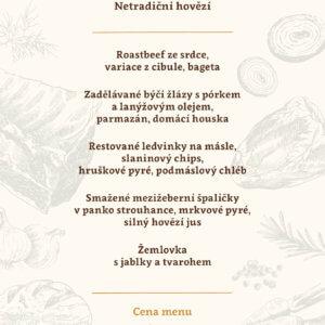 Netradiční hovězí menu