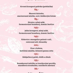Zabijačkové menu