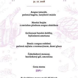 Silvestrovské menu
