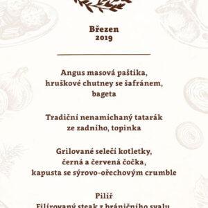 Degustační menu - Březen 2019