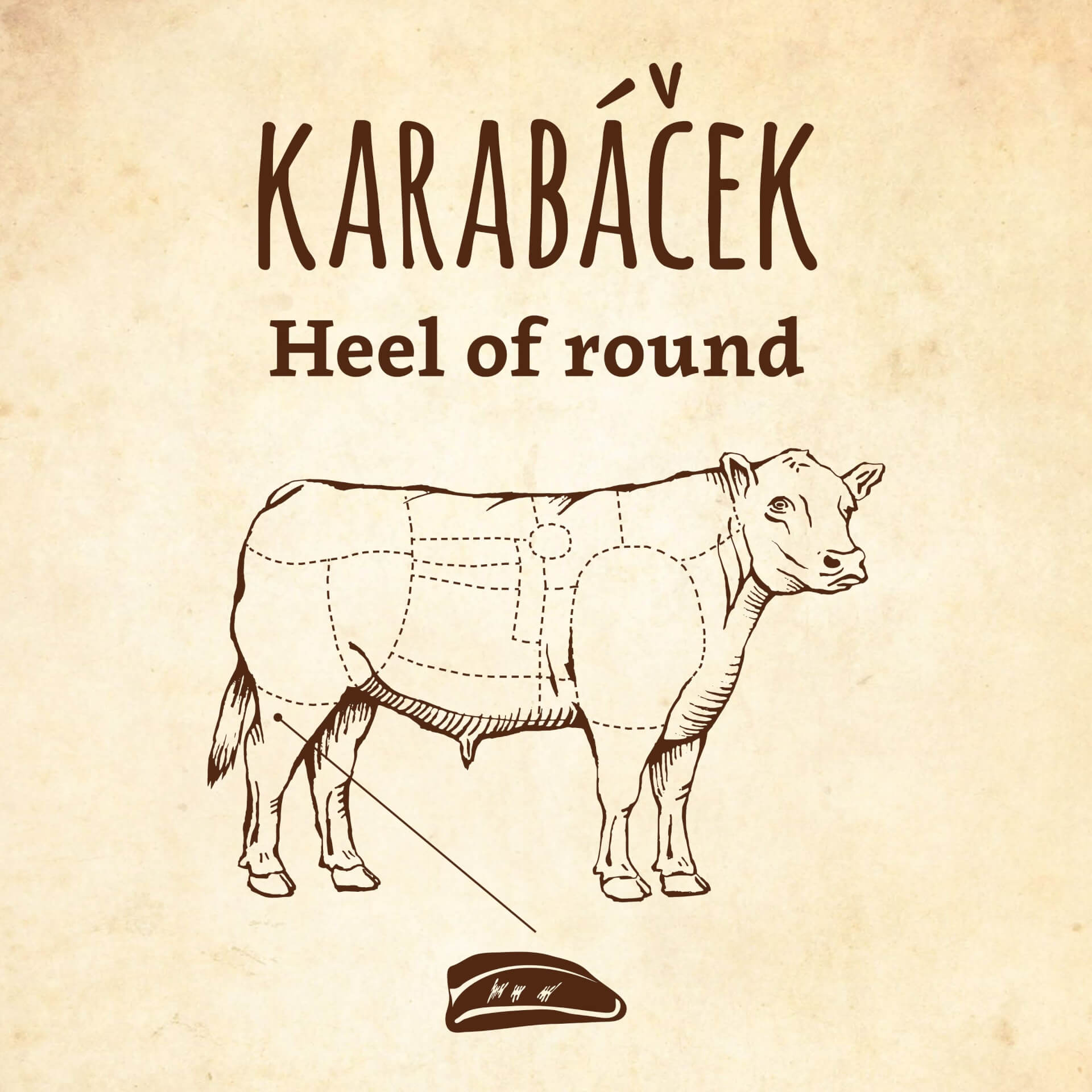 Steak z hovězí kližky / Karabáček / Heel of round