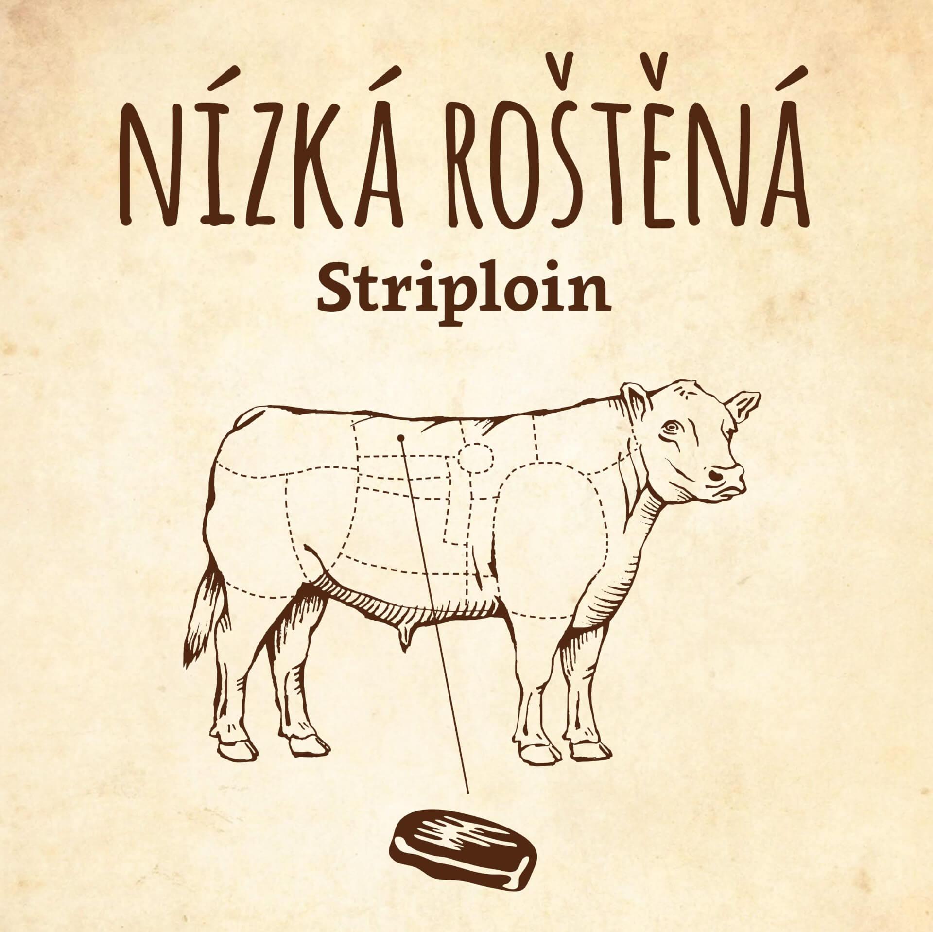Steak z nízké roštěné / Striploin