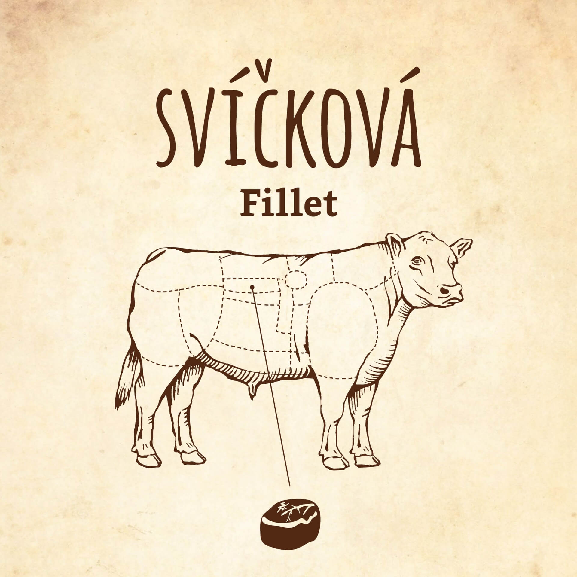 Steak z hovězí svíčkové / Fillet