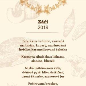 Degustační menu Angusfarm - září 2019