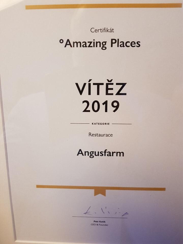 Angusfarm Soběsuky - nejlepší restaurace 2019 Amazing Places