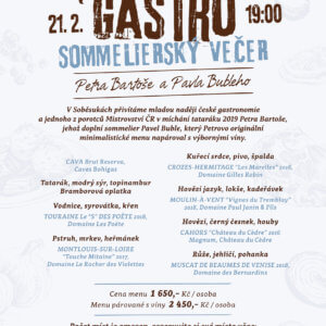 Gastro&Sommelier večer Petra Bartoše & Pavla Bubleho - 21.2.2020