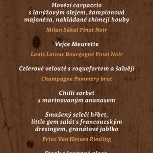 Gastro&Sommelier večer Patrika Bečváře & Davida Krále